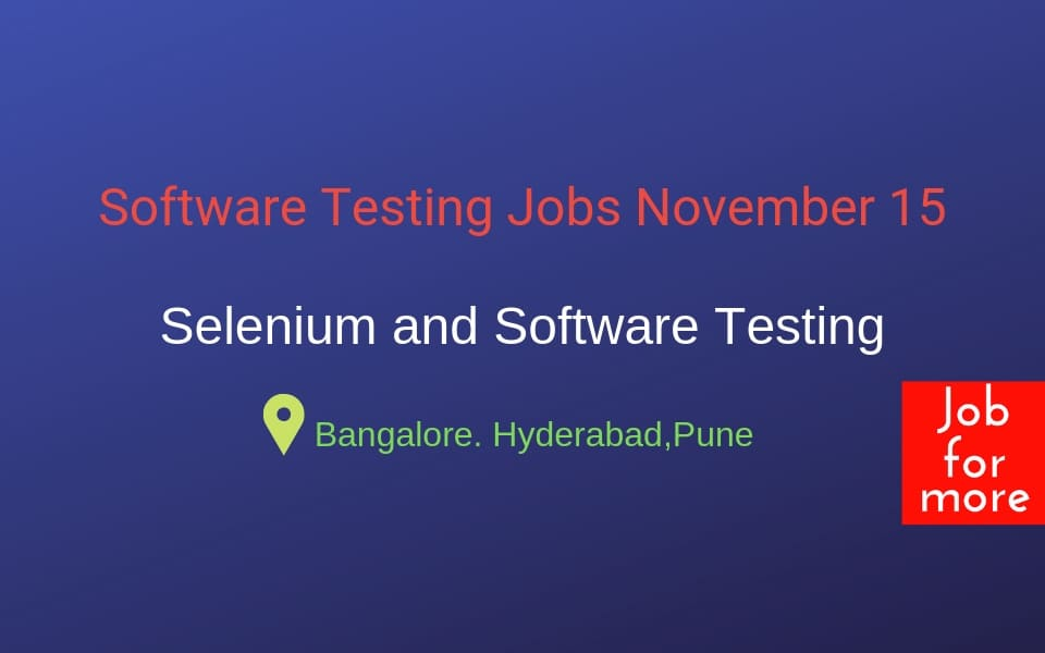 Software Testing Jobs by Jobformore
