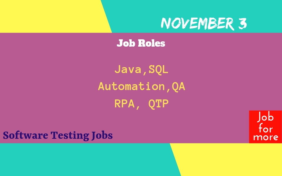 Software Testing Jobs in India