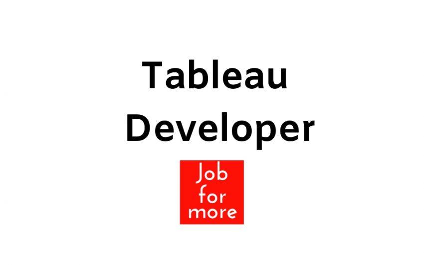 Tableau Developer