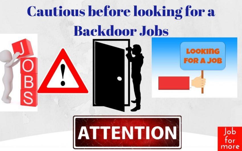 Looking for Backdoor Job
