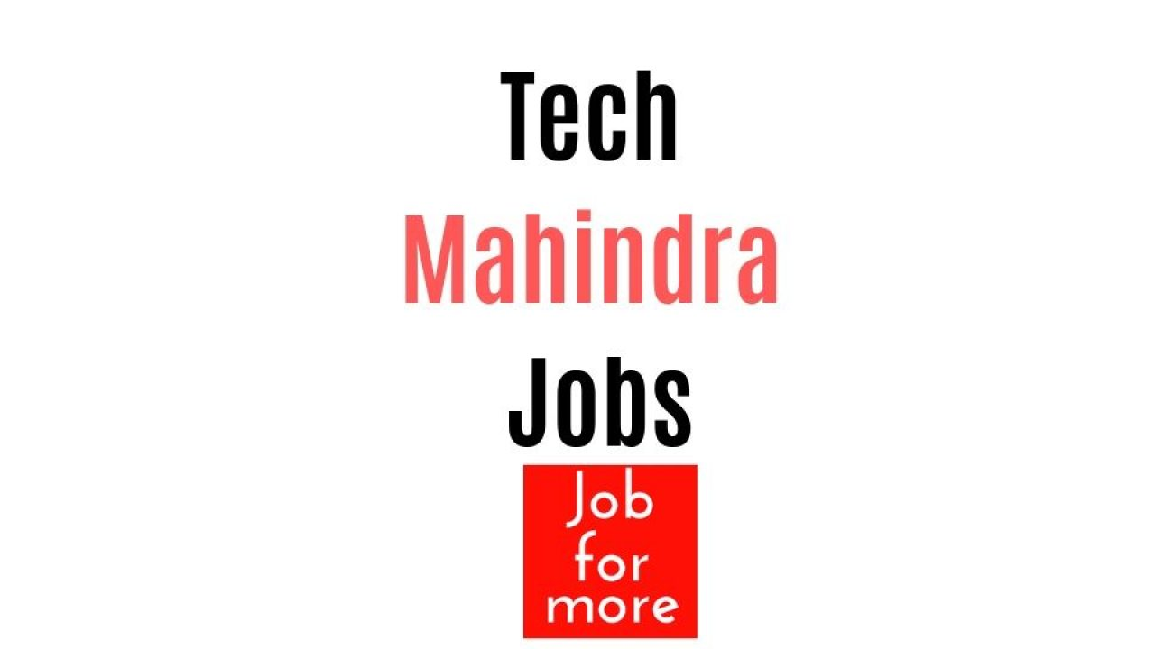 Techmahindra Hiring Software Developer Tester Dba Freshers Jobformore