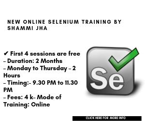 Selenium training Online by Shammi Jha